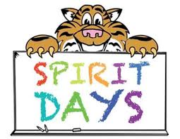 Tiger with Spirit Days Sign