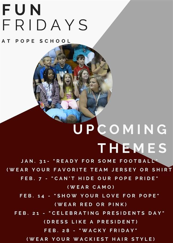 'Fun Fridays' themes set for Pope
