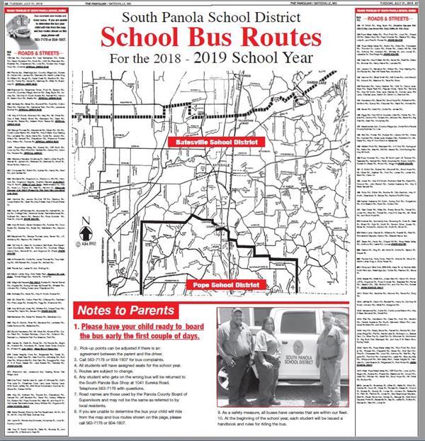 2018-19 SPSD bus routes