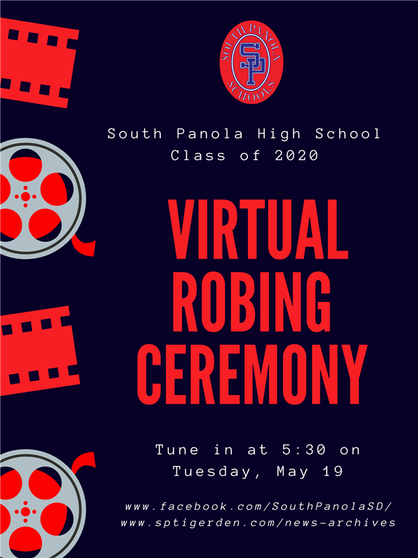 SPHS 2020 Virtual Robing Ceremony to be aired Tuesday, May 19 at 5:30