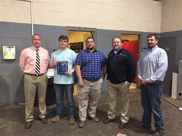 SPHS welding department recognized, receives donation
