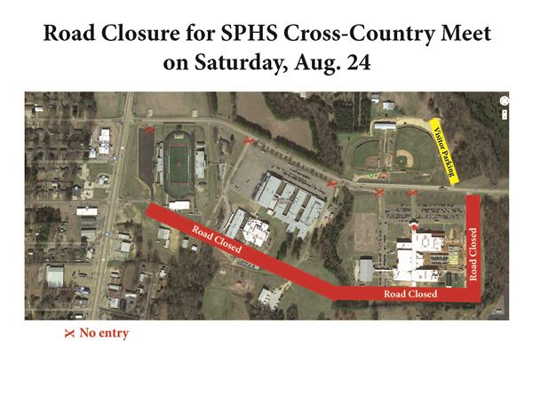 Road closure for SPHS cross-country meet on Aug. 24