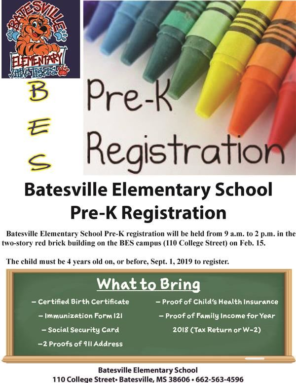 BES Pre-K registration set for Feb. 15
