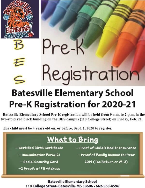 BES Pre-K registration set for Feb. 21