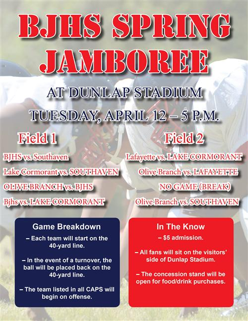 BJHS to host spring jamboree April 12  (updated seating information)