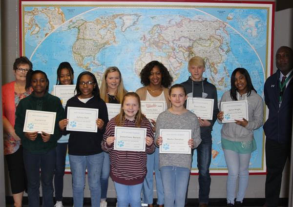 BJHS January Students of the Month