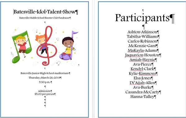 BMS talent show set for March 28