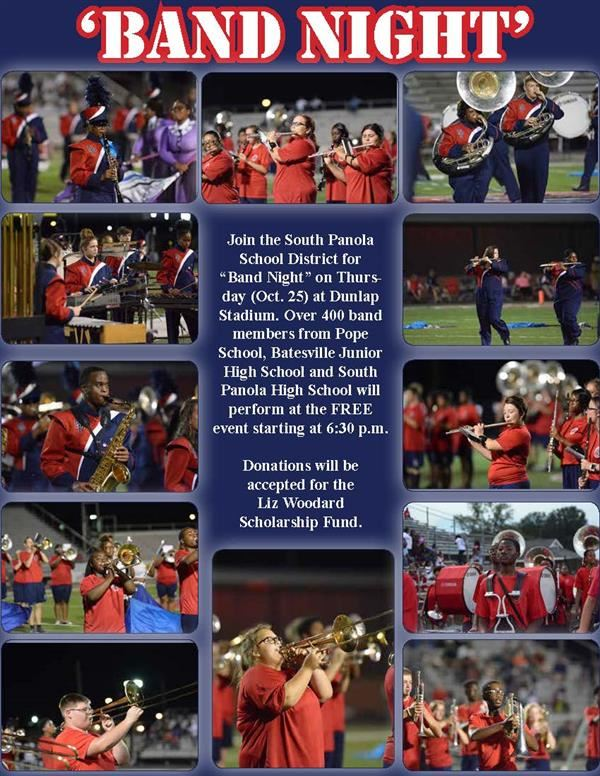 SPSD Band Night set for Oct. 25
