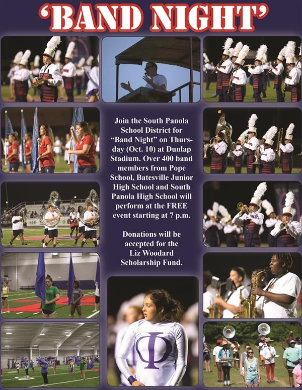 SPSD Band Night set for Oct. 10