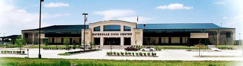 Driving directions/tips to Batesville Civic Center