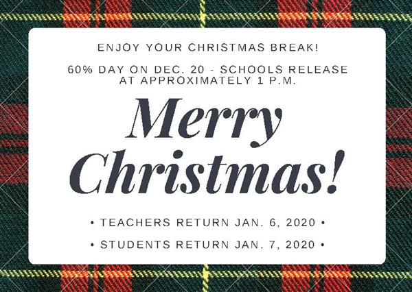 SPSD schools, offices to observe Christmas break