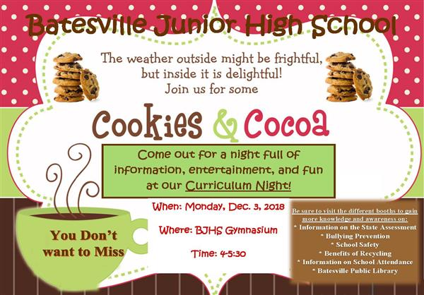 BJHS to host Cookies and Cocoa on Dec. 3