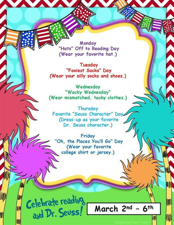 BES, BIS and Pope announce Dr. Seuss Week themes