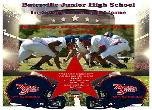 BJHS to host in-school football game Oct. 17