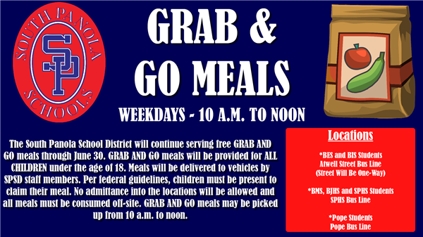 SPSD Grab & Go Meals to continue through June 30
