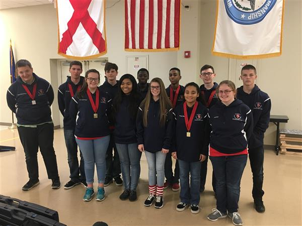 SPHS rifle team places third in national competition