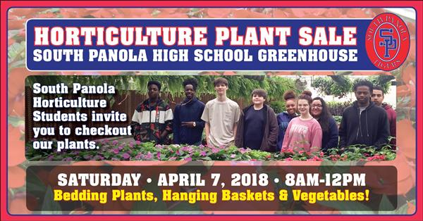 SPHS horticulture to hold plant sale April 7