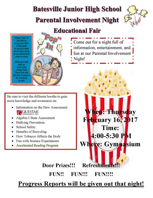 BJHS to host Parent Involvement Night on Feb. 16