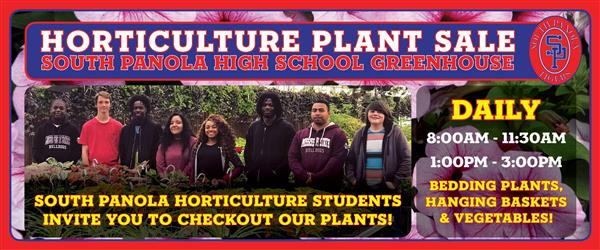 SPHS horticulture class plant sale ongoing