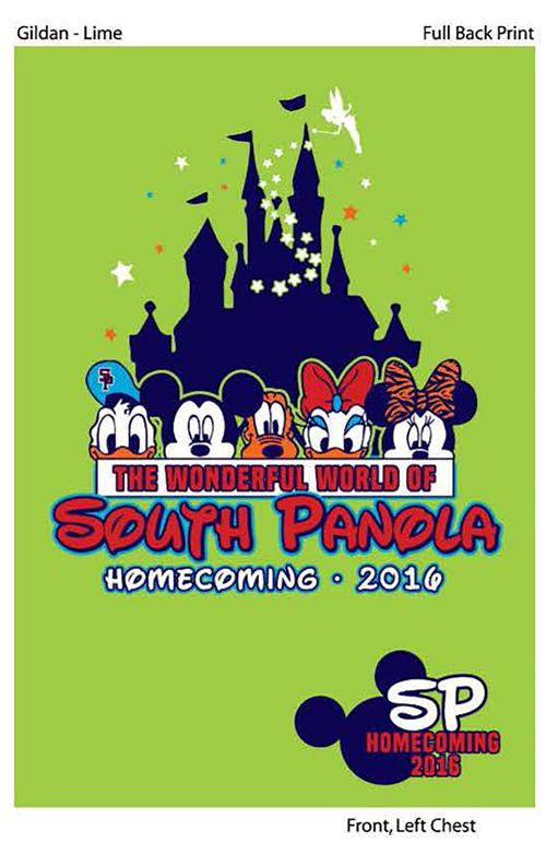 SPHS homecoming T-shirts on sale now