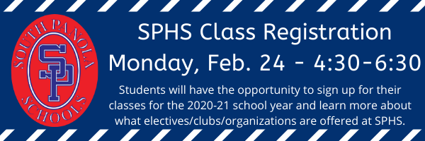 SPHS to host Class Registration Night on Feb. 24