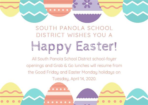 SPSD school-foyer openings, Grab & Go lunches will not be offered on Good Friday and Easter Monday