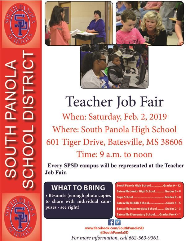 SPSD to hold Teacher Job Fair on Feb. 2