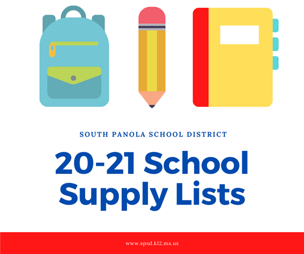 SPSD School Supply Lists for 2020-21 School Year