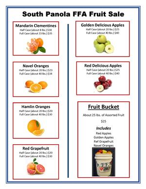 FFA Fruit Sale Flyer