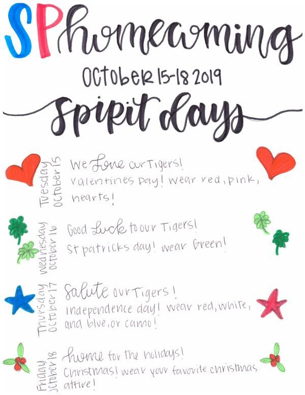 Homecoming Spirit Days
