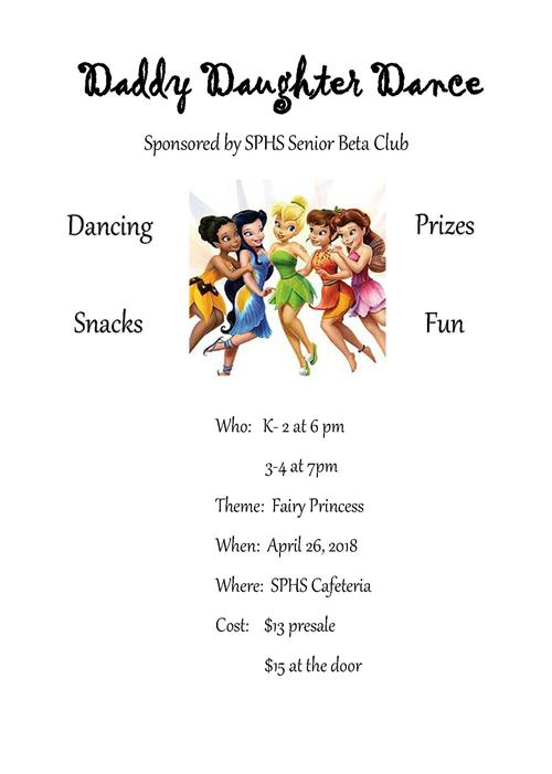 SPHS Beta Club to host annual Daddy Daughter Dance