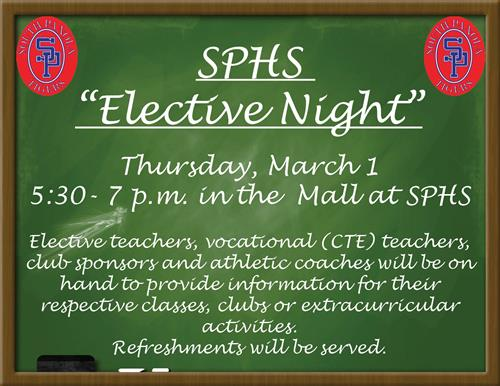 "SPHS to hold ""Elective Night"" on March 1"