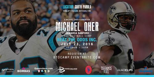 Oher, Sanford to offer free football camp