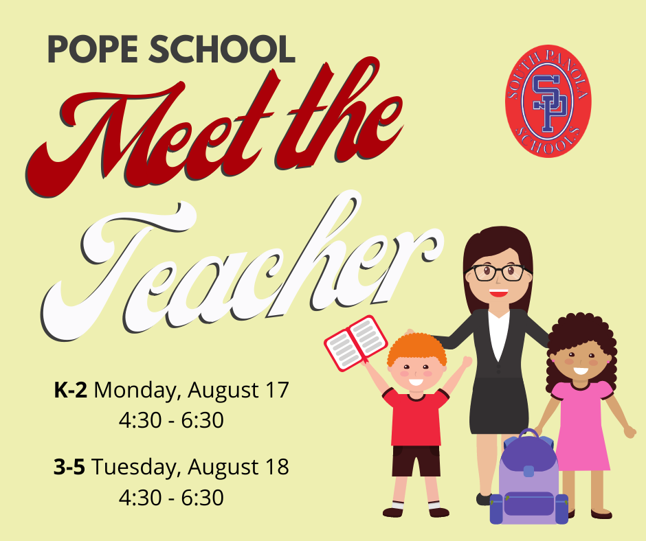 Pope School Meet the Teacher event set for Aug. 17 - 18